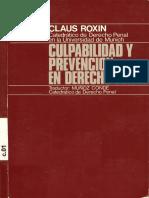 Roxin, Claus - Culpabilidad y Prevencion en Derecho Penal - 1981.pdf