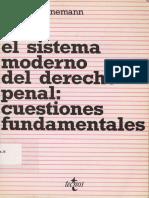 Schünemann, Bernd - El sistema moderno del derecho penal - Cuestiones fundamentales - 1991.pdf