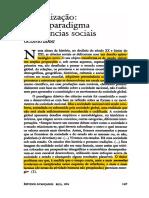 IANNI, Octavio. Globalizacao - Novo Paradigma Das Ciencias Sociais