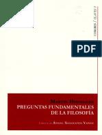 Heidegger Martin - Preguntas Fundamentales de La Filosofia