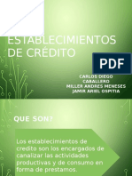 3 Establecimientos de Credito