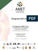 PROGRAMA GENERAL X CONGRESO AMET 2017