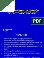 CURSO CIP -2008-  FORMULACION Y EVALUACION DE PROYECTOS MINEROS.ppt