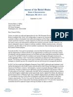 Congresswoman Elise Stefanik (R-NY-21) Letter to Gen. Milley Re. Wind Farms