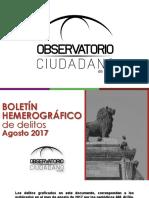 Boletín Hemerográfico OCL Agosto 2017