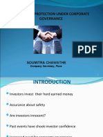 INVESTOR PROTECTION UNDER CORPORATE GOVERNANCE