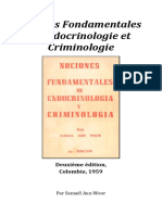 1957 Notions Fondamentales Endocrinologie Et Criminologie