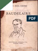 Jean Paul Sartre Baudelaire
