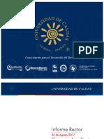 Informe Rector U. de Caldas al Consejo Académico - 22 de Agosto 2017