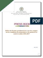 PressBook Référé Rentrée Scolaire 2016-2017