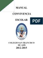 Manual de Convivencia Escolar 2014