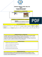 Programa Introduccion a La Historia Social Dominicana