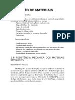 Resumo_Materiais Para Indústria Química