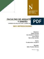 Informe Neo Impresionismo
