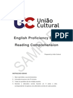 English Proficiency Exam Sample