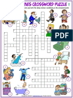 daily routines vocabulary esl crossword puzzle worksheets for kids.pdf