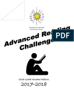 6th grade 2017-2018 advanced reading challenge student packet