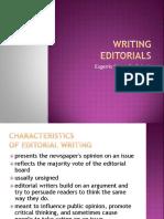 Writing Editorials