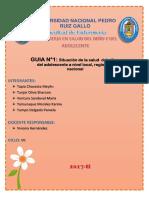 Factores de Riesgo y Estrategias de Solución Frente a Los Problemas de Salud en La Etapa Adolescente (1)