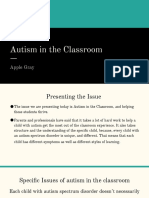 k205 presentation  autism in the classroom