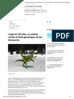 Luego de 130 años, un estudio cambia el árbol genealógico de los dinosaurios _ N+1_ artículos científicos, noticias de ciencia, cosmos, gadgets, tecnología