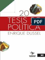 20 de Tesis de Política - Dussel