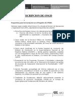 Requisitos Para El Tramite de Inscripcion en El Registro de Ongd