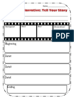 personal narrative graphic organizer snapshot