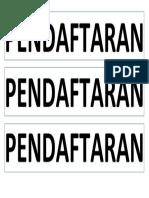 PENDAFTARAN