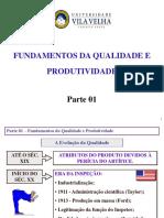Aula Qualidade Parte 01 Qualidade e Produtividade 20170728-1350
