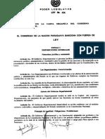 Paraguay - Ley Gobernaciones