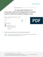 Geochemistry of REE of Mirga Mir