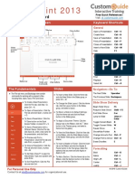 Powerpoint 2013 Quick Reference