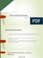 Inmunizaciones.