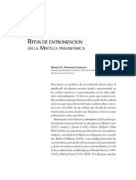 Ritos de Entronizacion en La Mixteca Prehispanica.