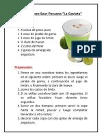 Receta Pisco Sour Peruano