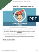 Detailed SSC CGL Syllabus (Tier I) - Based on New Pattern 2017 - Testbook Blog.pdf
