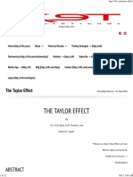 The Taylor Effect