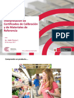 16 Interpretación de Certificados de Calibración y de Materiales de Referencia