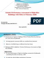 Presentation-seismic Performance Assessment of High Rise Buildings With the Effect of Masonry Infill