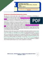 1. Introduccion a La Hematologia Hematopoyesis y Organos.14!02!17.PDF