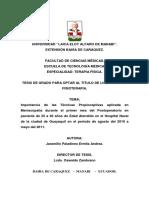 FNP en Meniscopatias