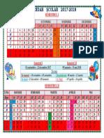 Calendar Școlar 2017-2018