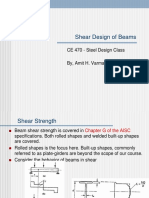 Beam Shear Design