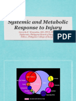 Systemic and Metabolic Response to Injury SX1