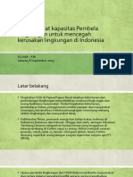 Strengthening the Capacity of Environmental Defenders to Prevent