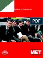 MET Institute of Management - Brochure