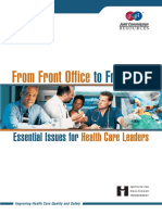 From Front Office to Frontline, Essential for Healthcare Leaders