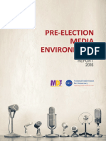 Pre-election Media Environment, Report 2016