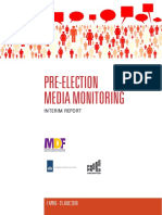 Pre-election Media Monitoring 1 April - 31 July, 2016, Interim Report